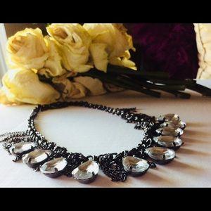 🐘Gunmetal Rhinestone Necklace |rocker|bohemian🐘